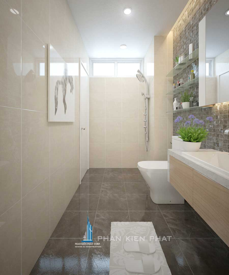 Nội thất chung cư - Phòng vệ sinh góc 2