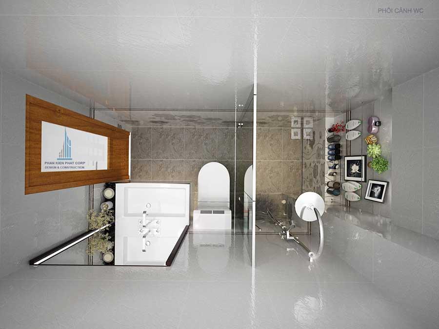 Nhà 4 tầng hiện đại - Phòng vệ sinh góc 2