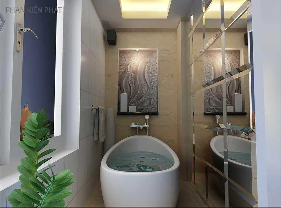 Thiết kế nội thất căn hộ - Phòng vệ sinh góc 3