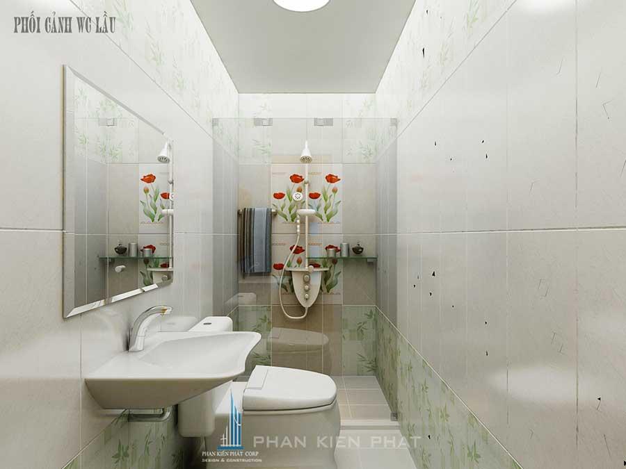 Nhà 4 tầng 4x20m - Phòng vệ sinh lầu