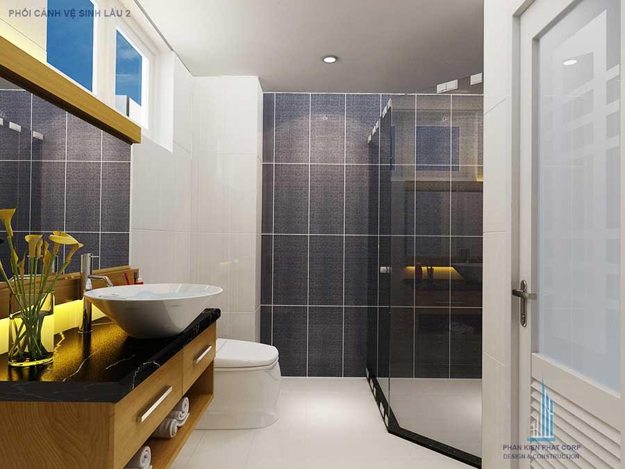 Thiết kế biệt thự - Phòng vệ sinh lầu góc 1