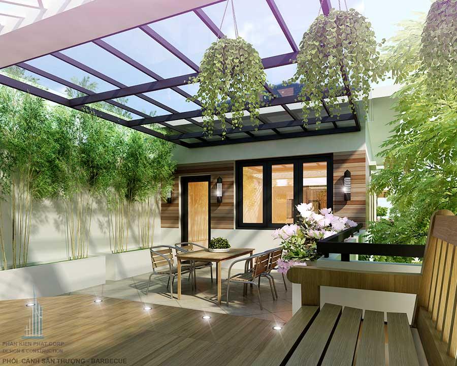 Thiết kế biệt thự - Sân thượng góc 2