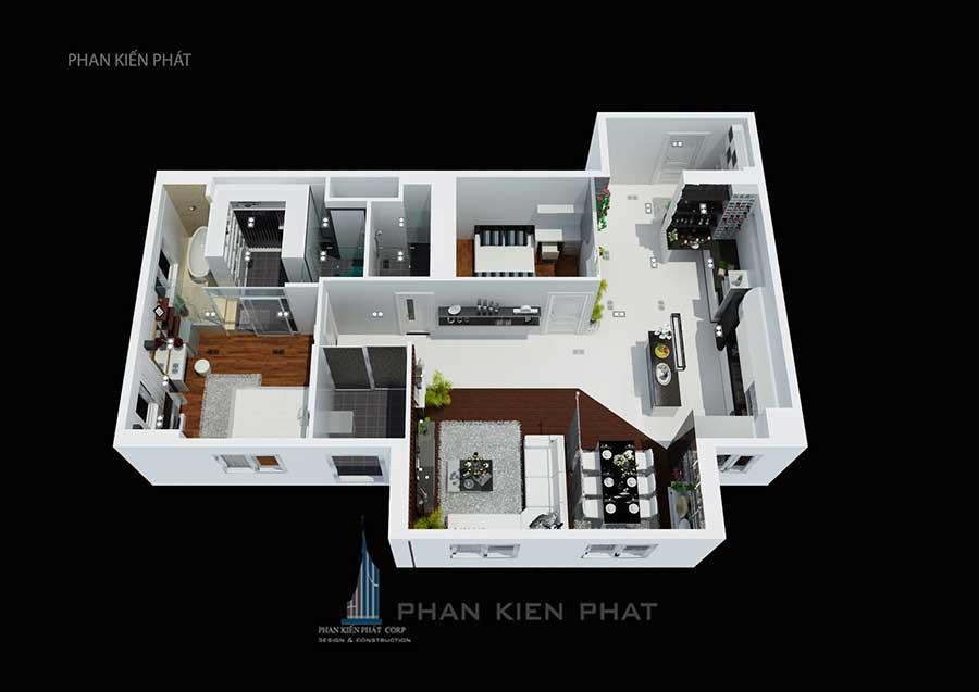 Nội thất căn hộ chung cư - Tổng thể