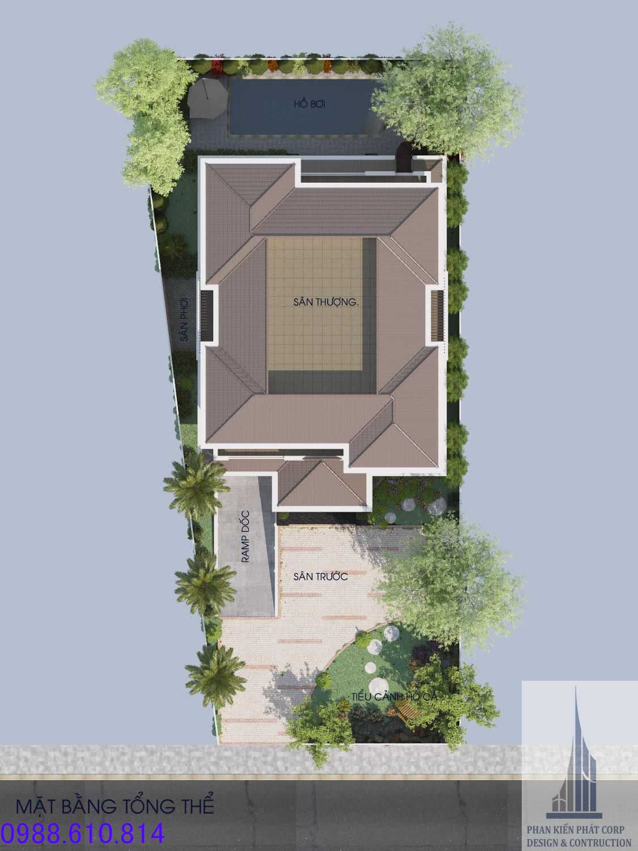 Biệt thự 2 tầng đẹp có sân vườn rộng tại Sóc Trăng