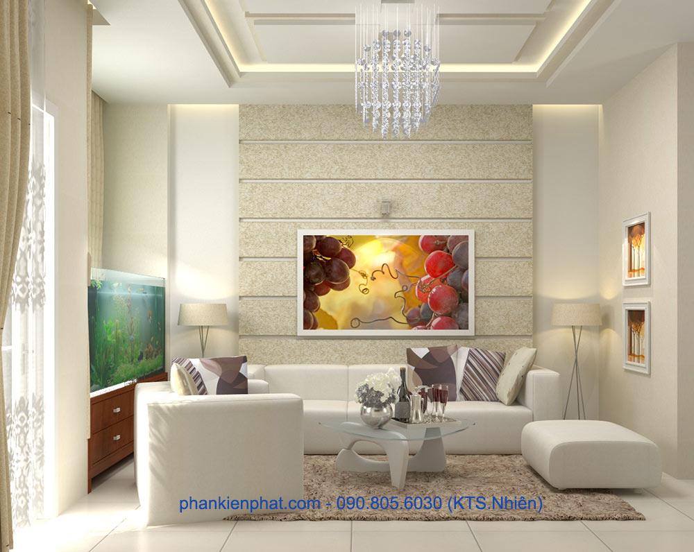 Phòng khách lầu 1 view 1