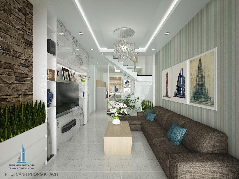Phòng khách nhà 4 tầng view 1