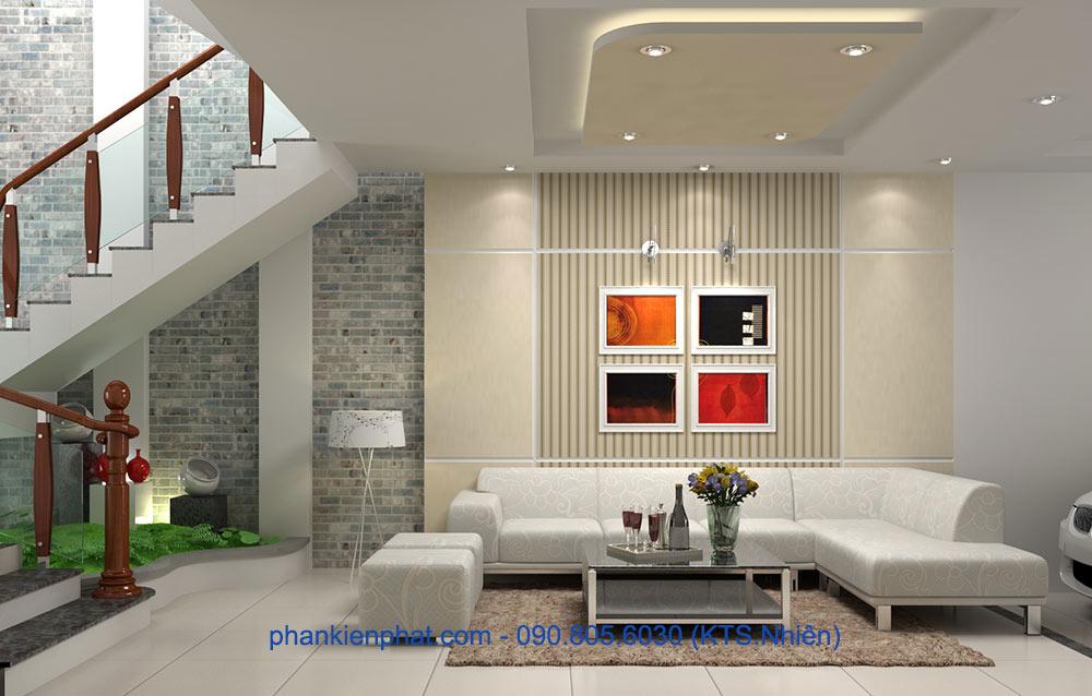 Phòng khách phụ view 2 của nhà hiện đại 1 trệt 3 tầng