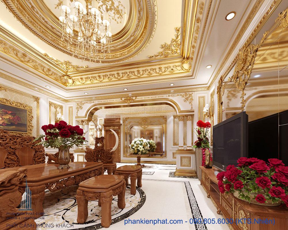Phòng khách view 5 biệt thự hoàng gia kết hợp kinh doanh