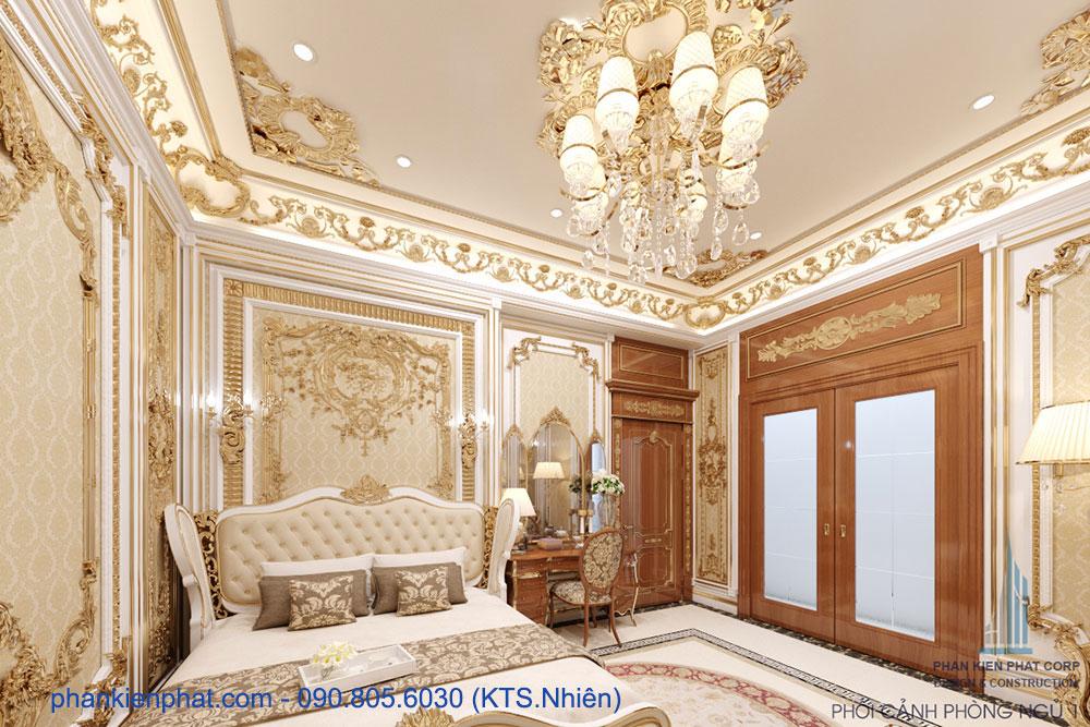 Phòng ngủ 1 view 1 biệt thự hoàng gia ấn tượng