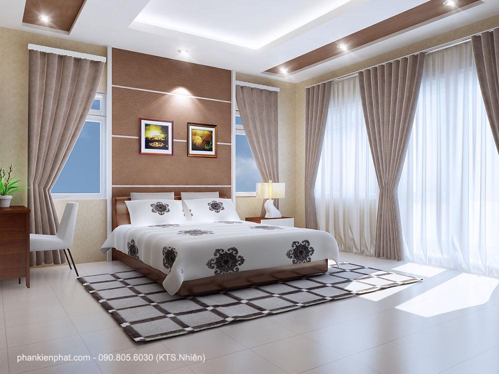 Phòng ngủ 1 view 1 nhà phố 4 tầng