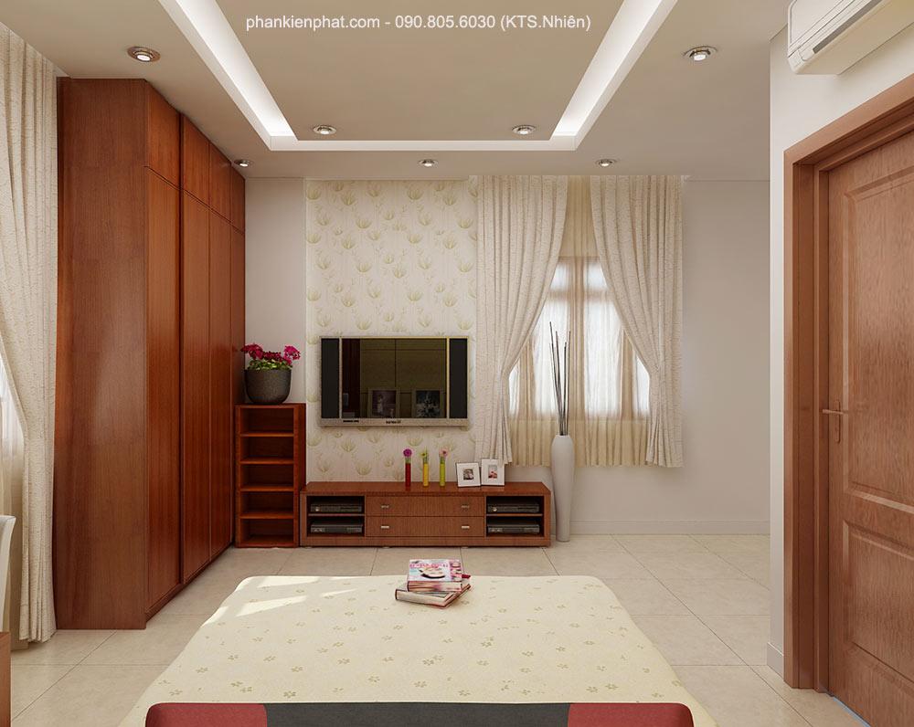 Phòng ngủ 1 view 2 nhà 2 tầng 11x6m