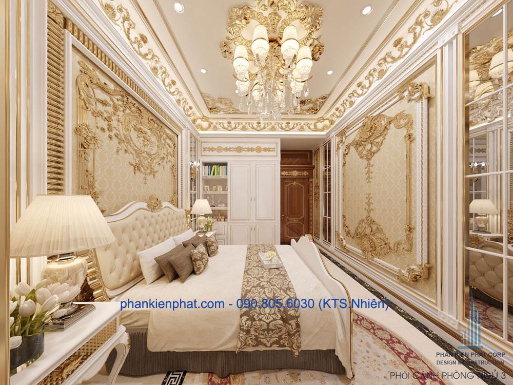 Phòng ngủ master của biệt thự cổ điển ấn tượng