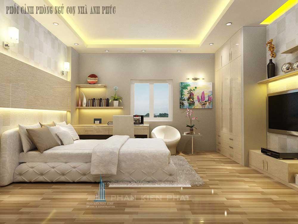 Phòng ngủ 2 của nhà ống hiện đại 5x16m 3 tầng
