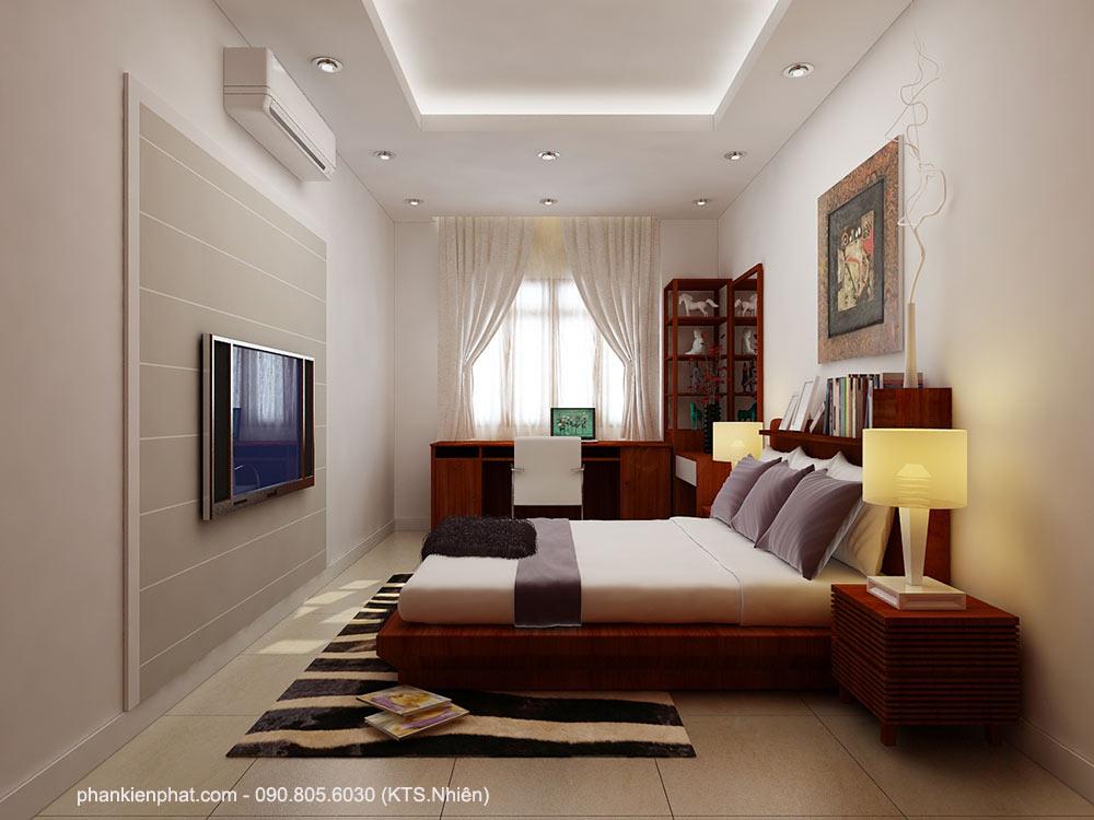 Phòng ngủ 2 view 1 biệt thự bán cổ điển 11x6m