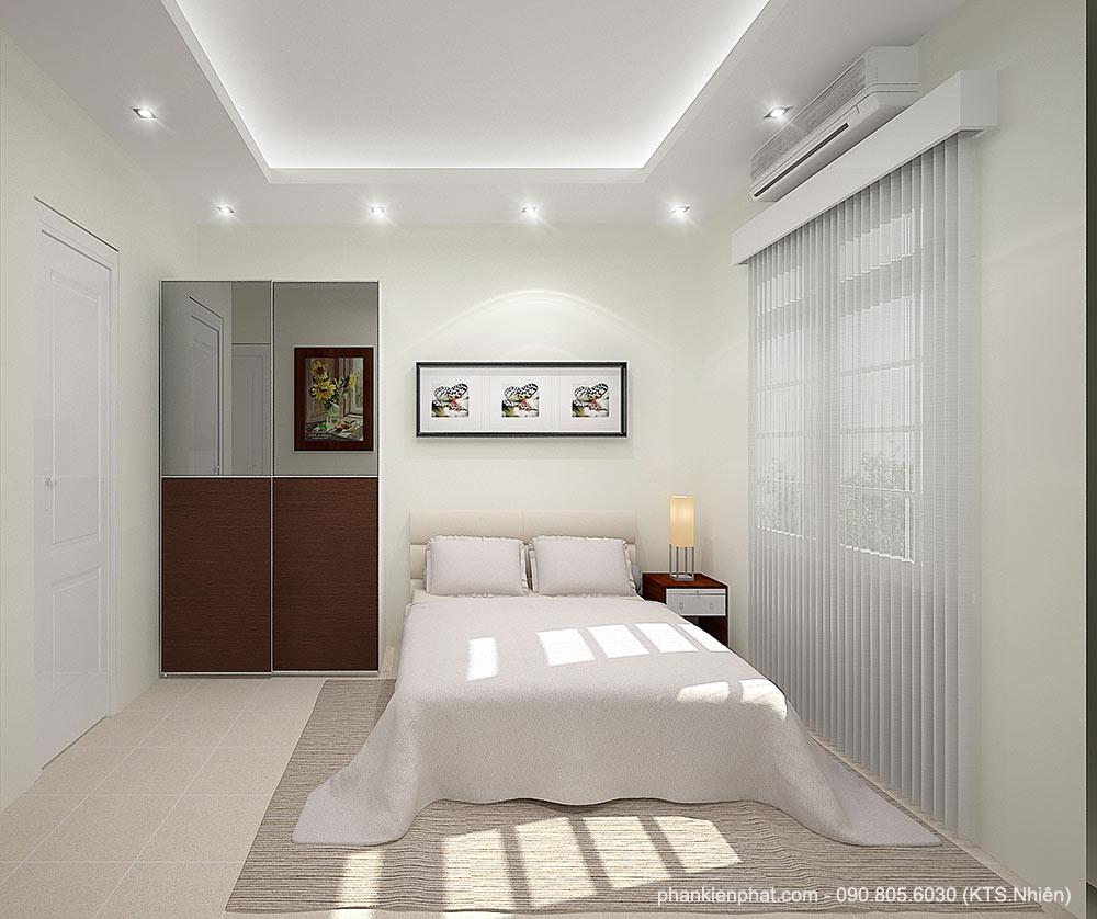 Phòng ngủ 2 view 1 của mẫu nhà phố 1 trệt 3 tầng 7x16m
