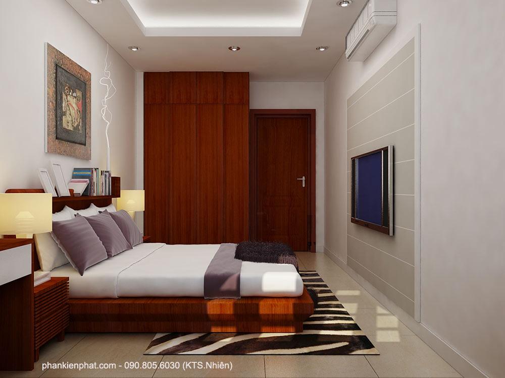 Phòng ngủ 2 view 2 nhà 2 tầng bán cổ điển 11x6m