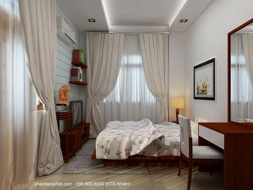 Phòng ngủ 3 view 1 của nhà 11x6m 2 tầng