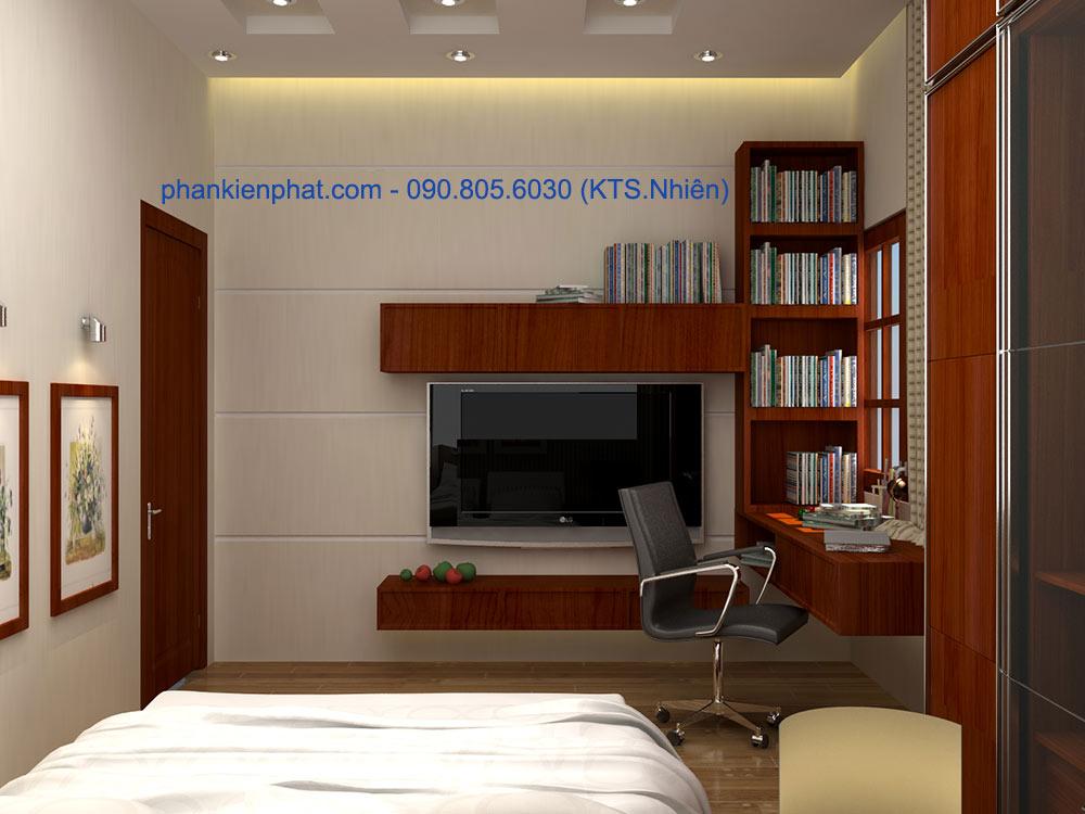 Phòng ngủ 4 view 2 nhà phố 4 tầng