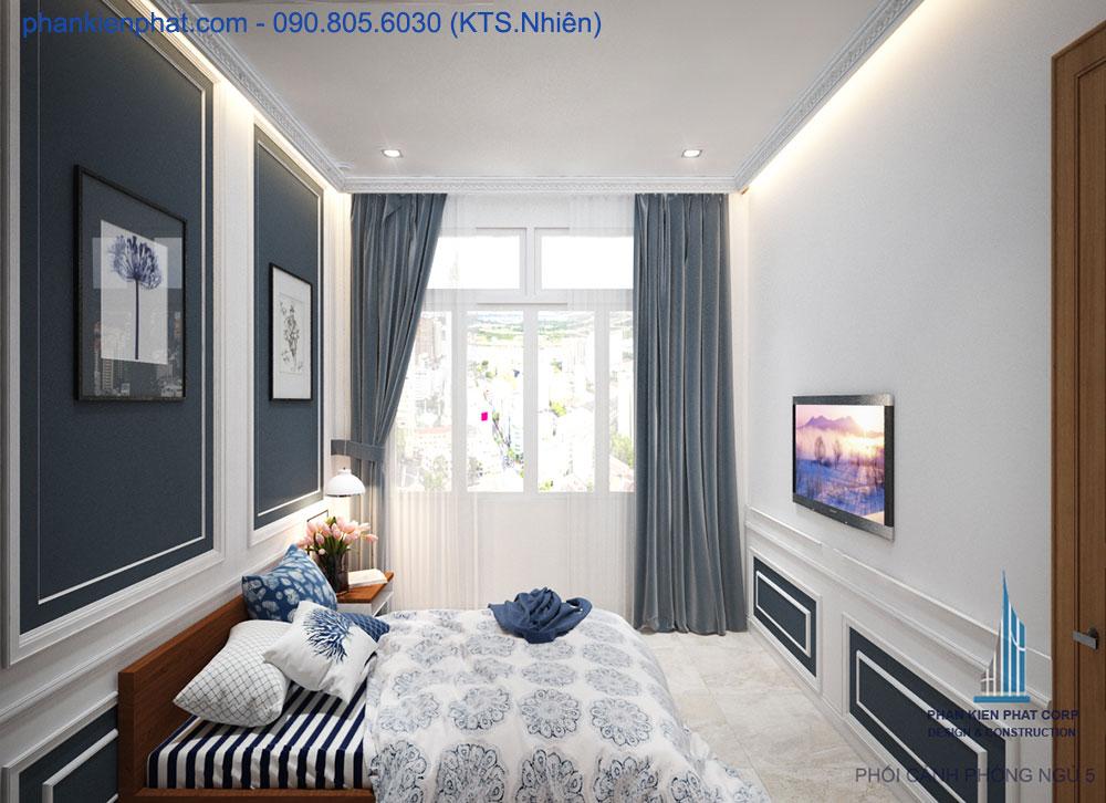 Phòng ngủ 5 nhà phố 4x15m đẹp