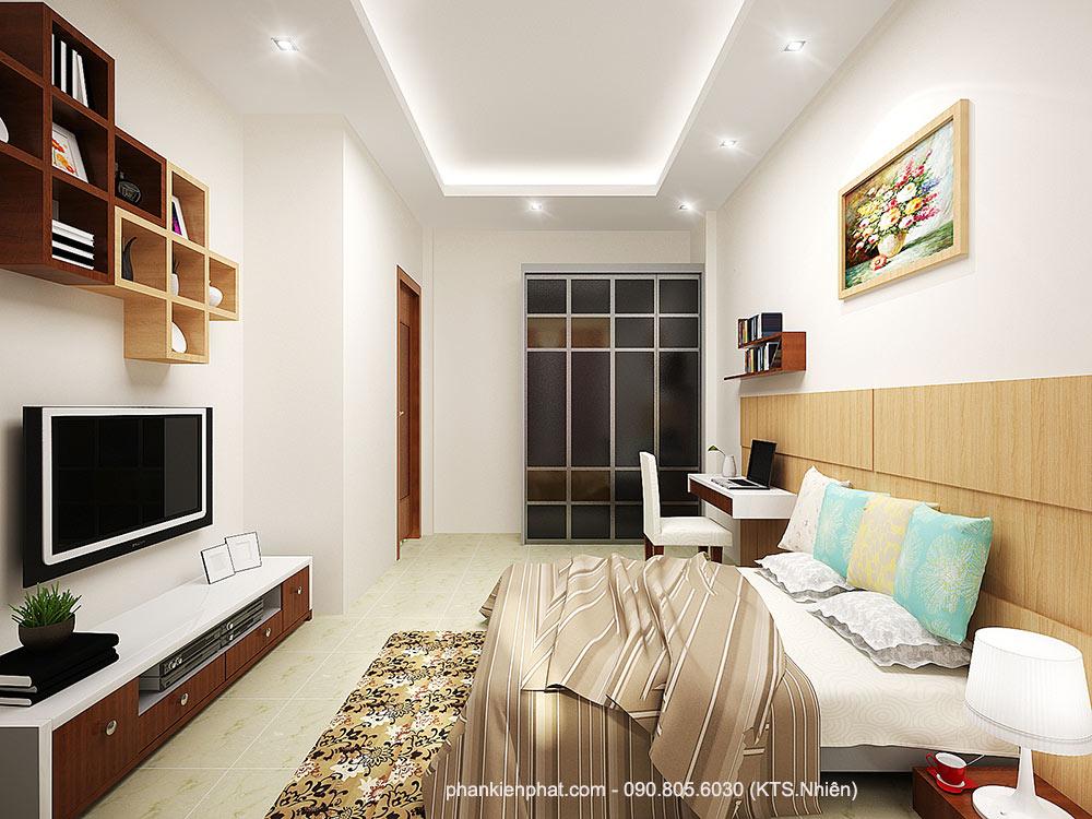 Phòng ngủ 4 view 1 của công ty xây nhà đẹp uy tín