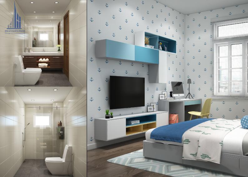 phòng ngủ cho con được thiết kế độc đáo view 2