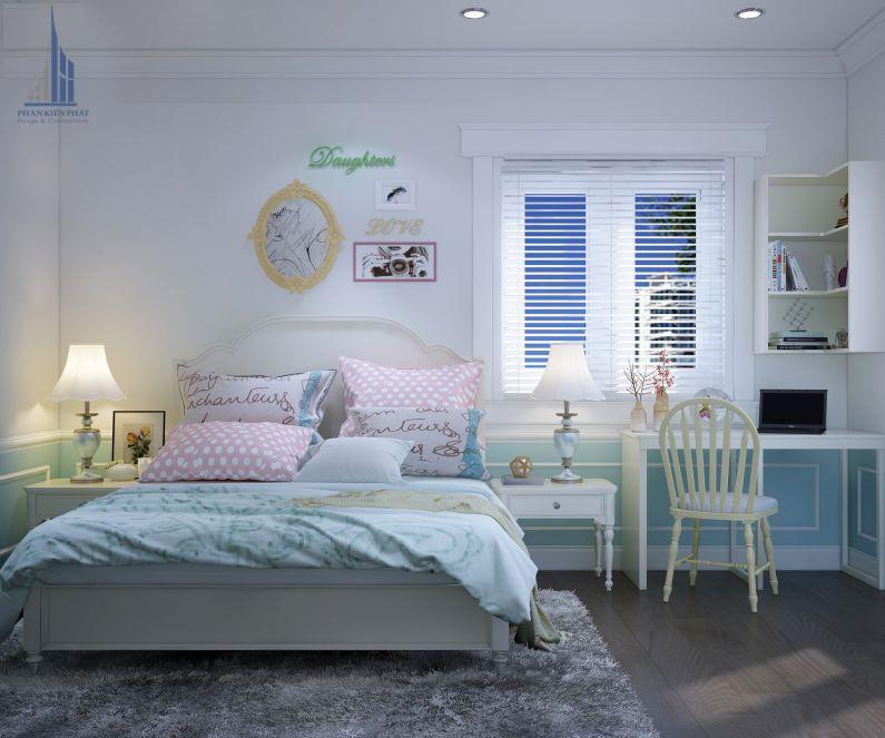 Phòng ngủ con gái dịu dàng, xinh xắn