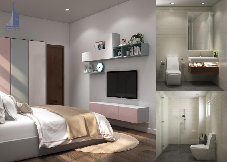 Phòng ngủ con gái được thiết kế xinh xắn, dịu dàng view 2
