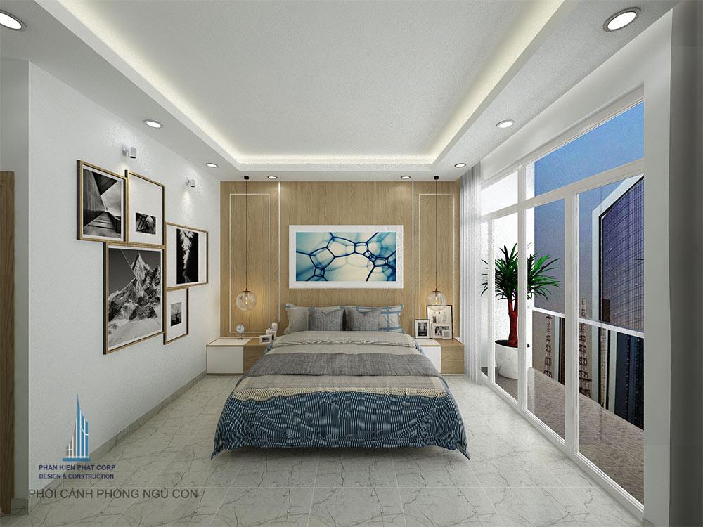 Phòng ngủ 1 view 2 của nhà phố đẹp 4 tầng 4x15m