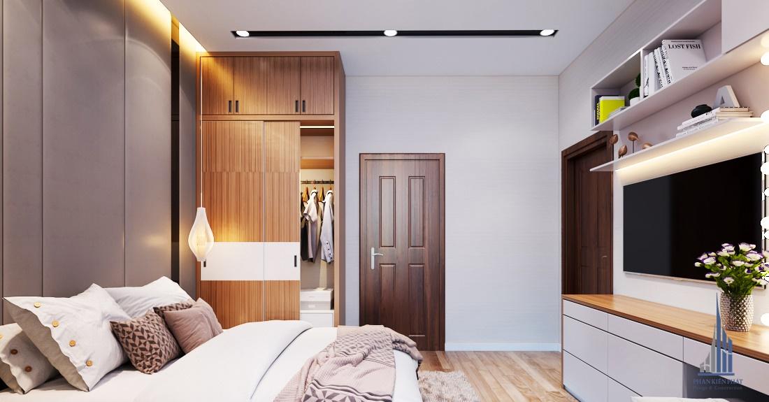 Phòng ngủ đơn giản, đầy đủ công năng