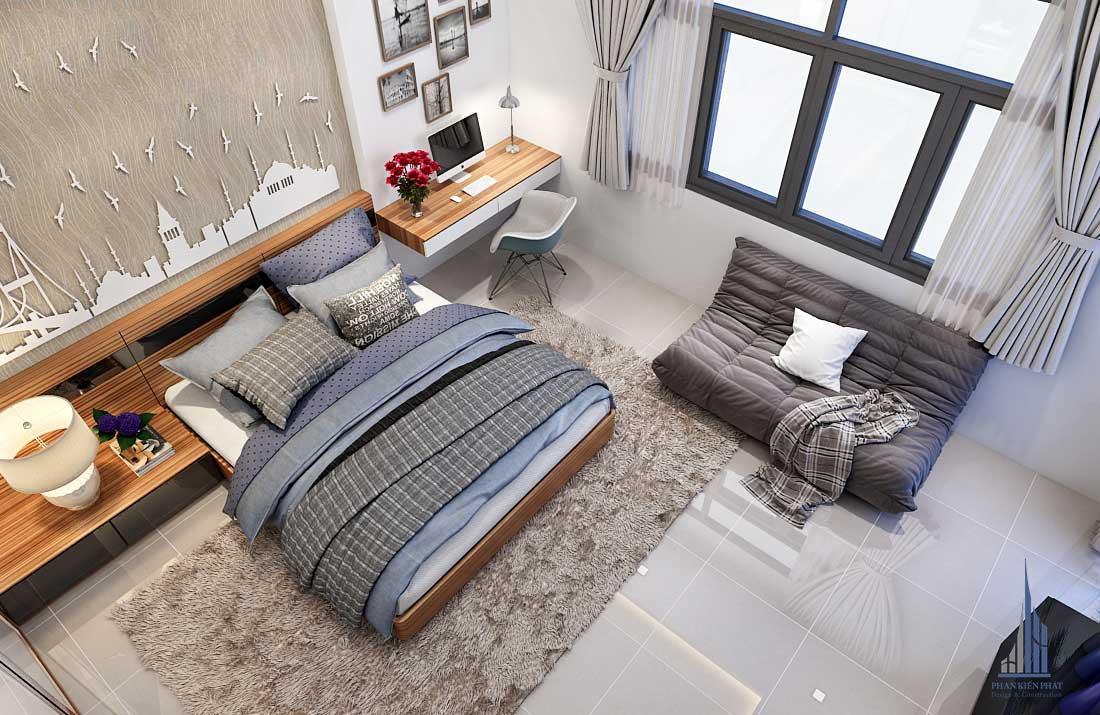 Phòng ngủ đơn giản, tiện nghi