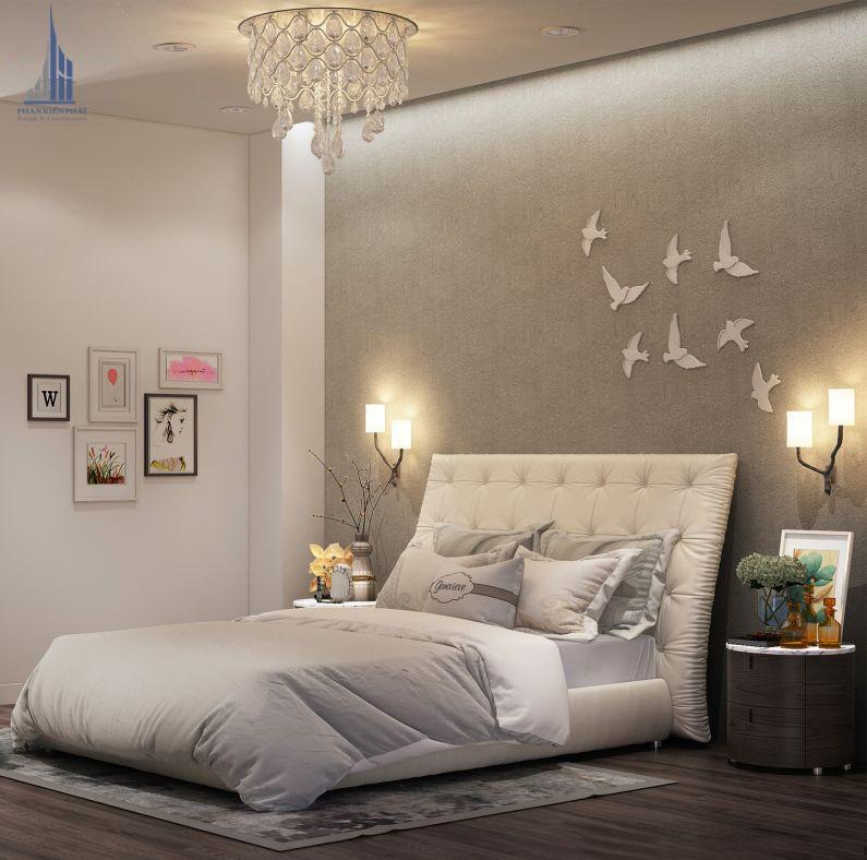 phòng ngủ được trang trí hợp lí tạo cảm giác thư giản thoải mái view 1