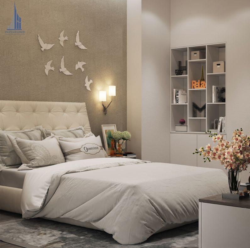 phòng ngủ được trang trí hợp lí tạo cảm giác thư giản thoải mái view 2