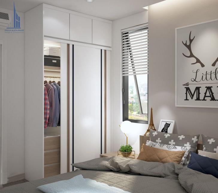 phòng ngủ được trang trí với màu dịu nhẹ hài hòa view 3