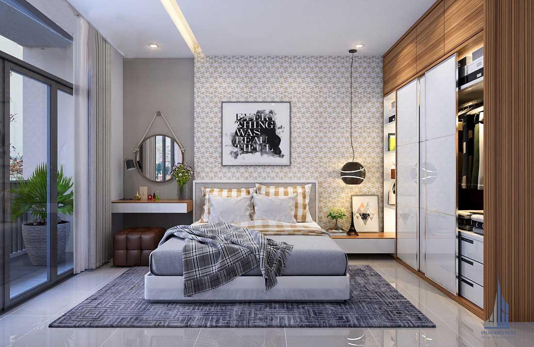phòng ngủ hiện đại, đầy đủ công năng