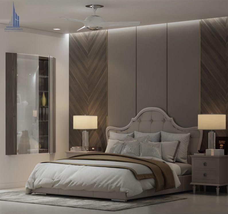 Phòng ngủ master kín đáo, lãng mạng