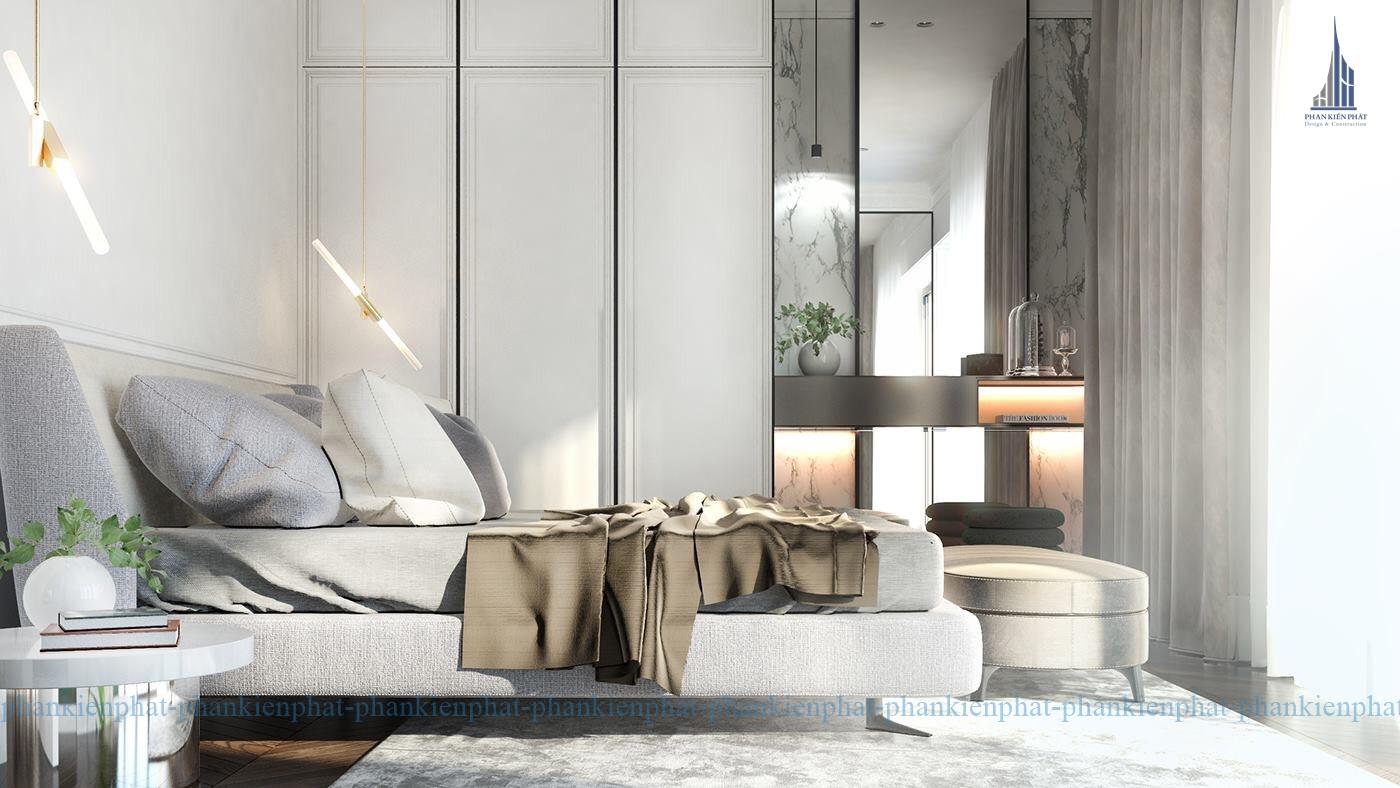 Phòng ngủ được thiết kế sang trọng tiện nghi view 1