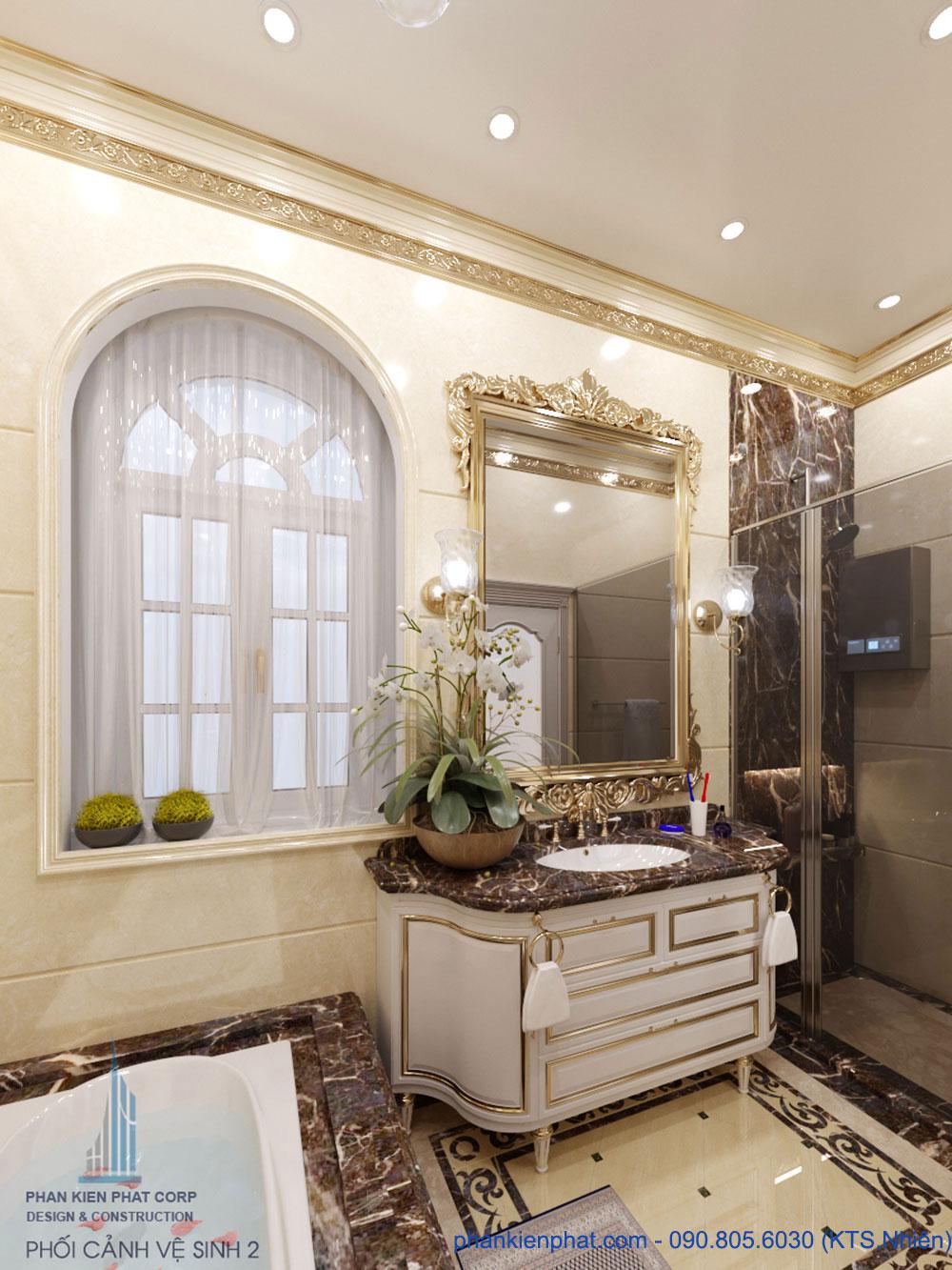 Phòng vệ sinh 2 view 1