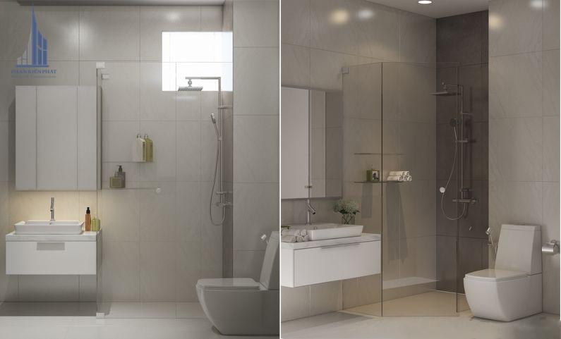 Phòng vệ sinh sang trọng màu sắc hài hòa