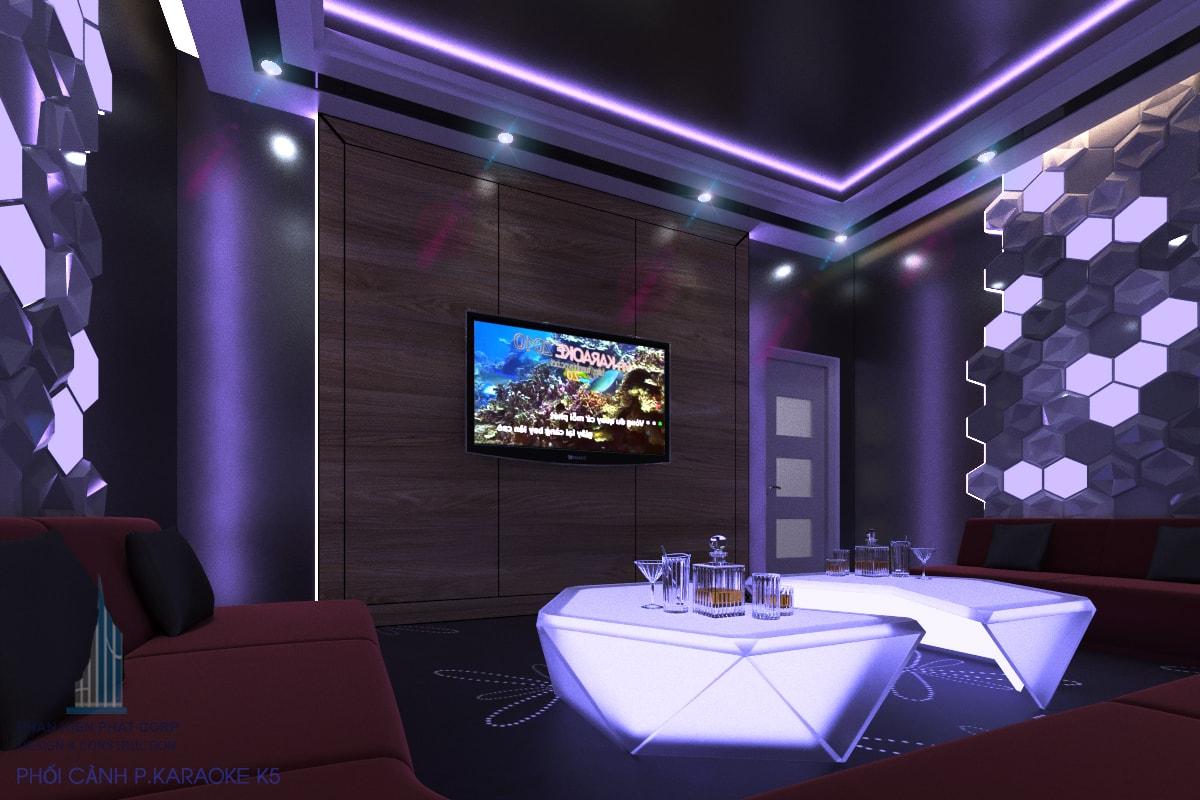 Quán karaoke đẹp phòng 5 view 1