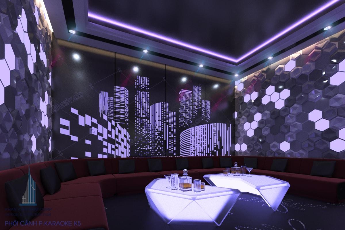 Quán karaoke đẹp phòng 5 view 2