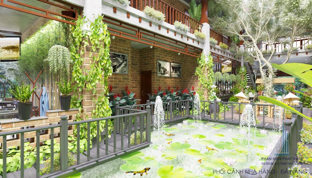 Thiết kế nhà hàng phong cách truyền thống view 14