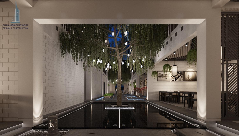 Bản vẽ nội thất nhà hàng view 1