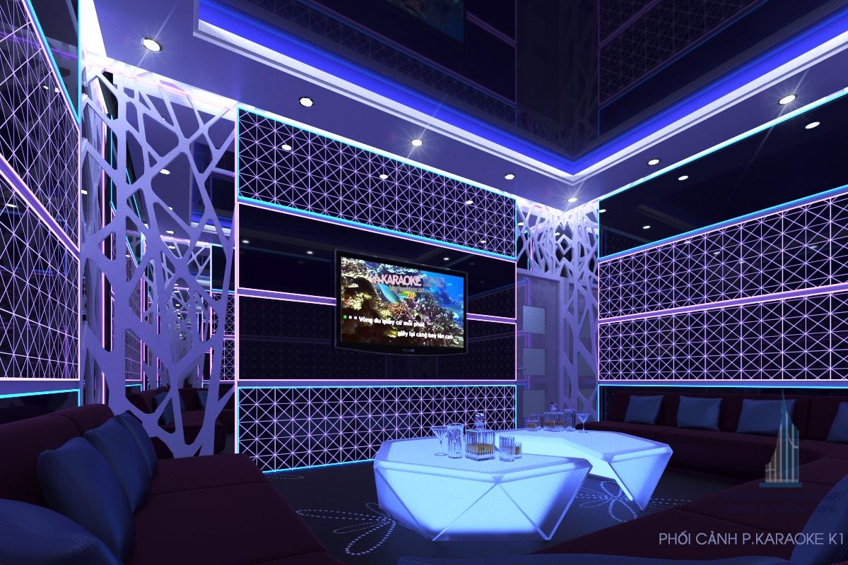 Thiết kế quán karaoke phòng 1 view 1