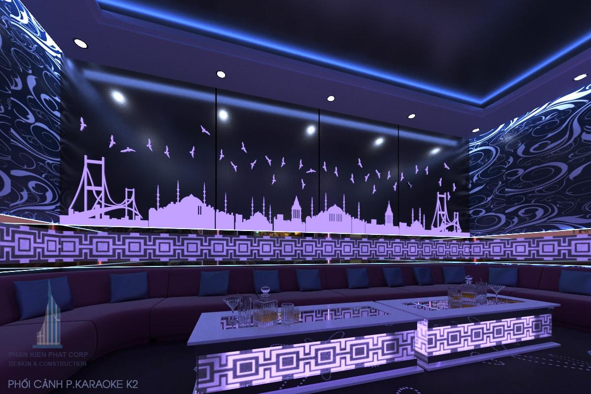 Thiết kế quán karaoke phòng 2 view 2