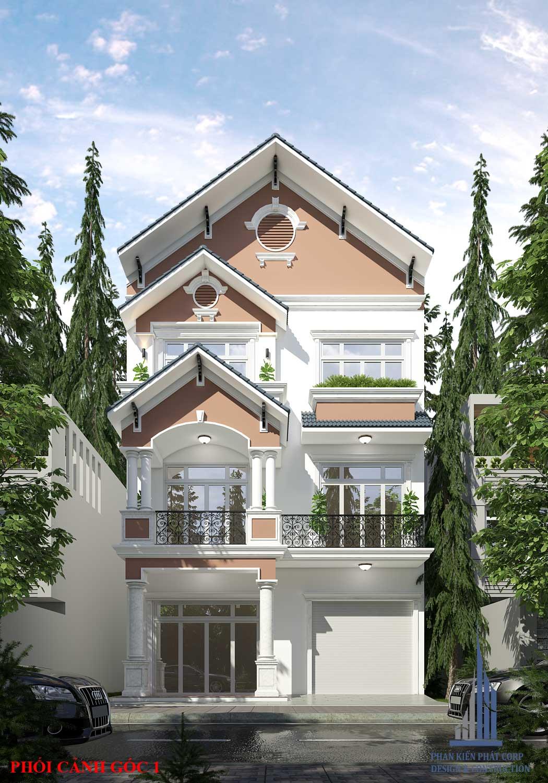 mẫu nhà phố 3 tầng mái thái - mẫu nhà 3 tầng đẹp