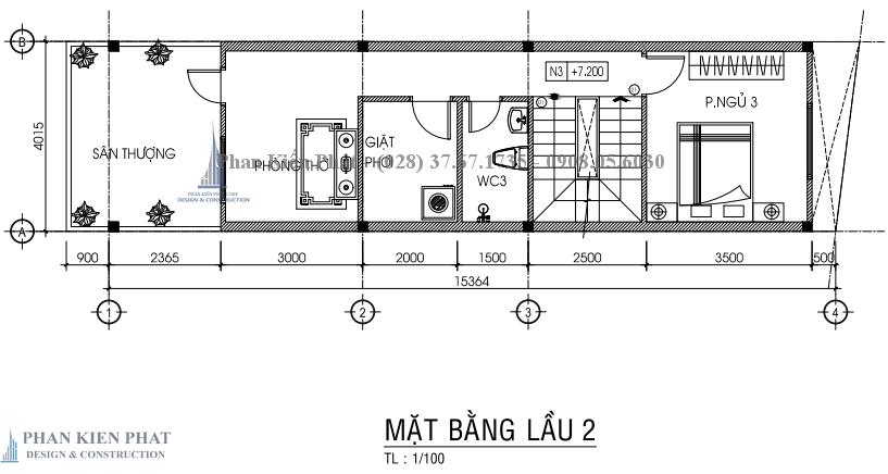 Ban Ve Chi Tiet Mat Bang Lau 2 Nha Pho 3 Tang