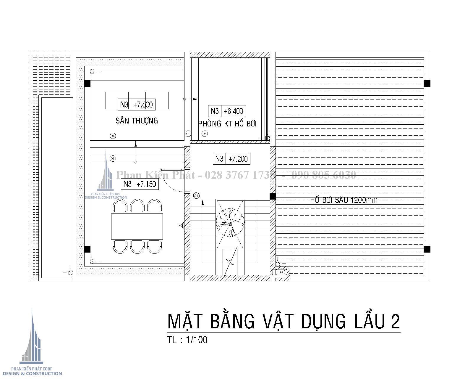 Mat Bang Lau 2 Biet Thu Pho Hien Dai Binh Phuoc Tkxn