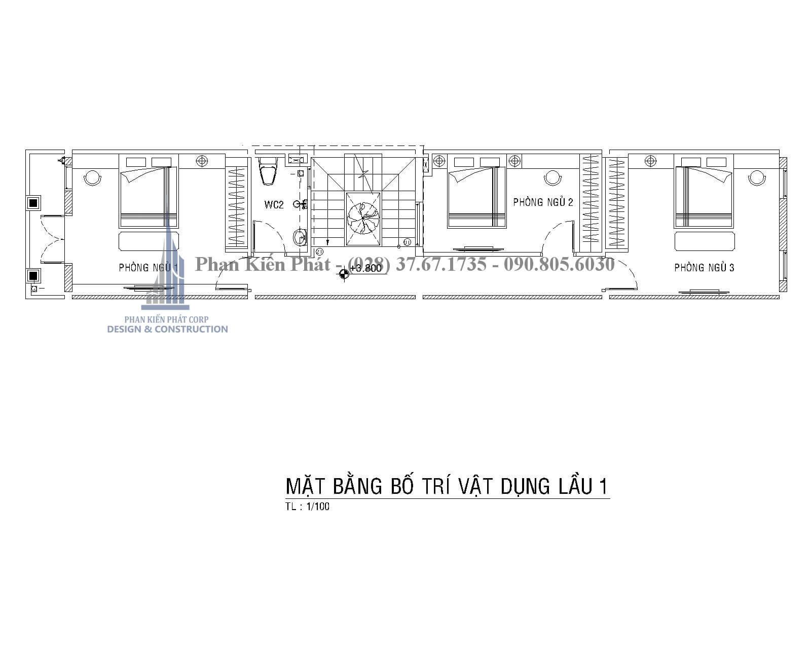 Thiet Ke Xay Dung Nha Dep Mat Bang Lau 1 Nha Pho Mai Thai - mẫu nhà phố 3 tầng tân cổ điển