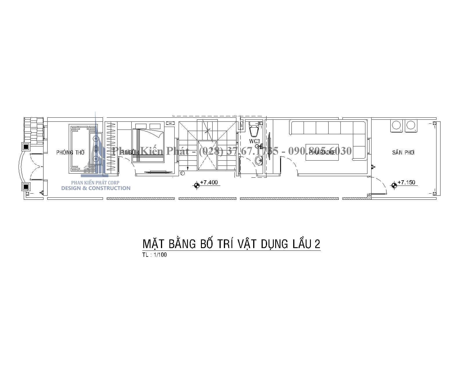 Thiet Ke Xay Dung Nha Dep Mat Bang Lau 2 Nha Pho Mai Thai - mẫu nhà phố 3 tầng tân cổ điển