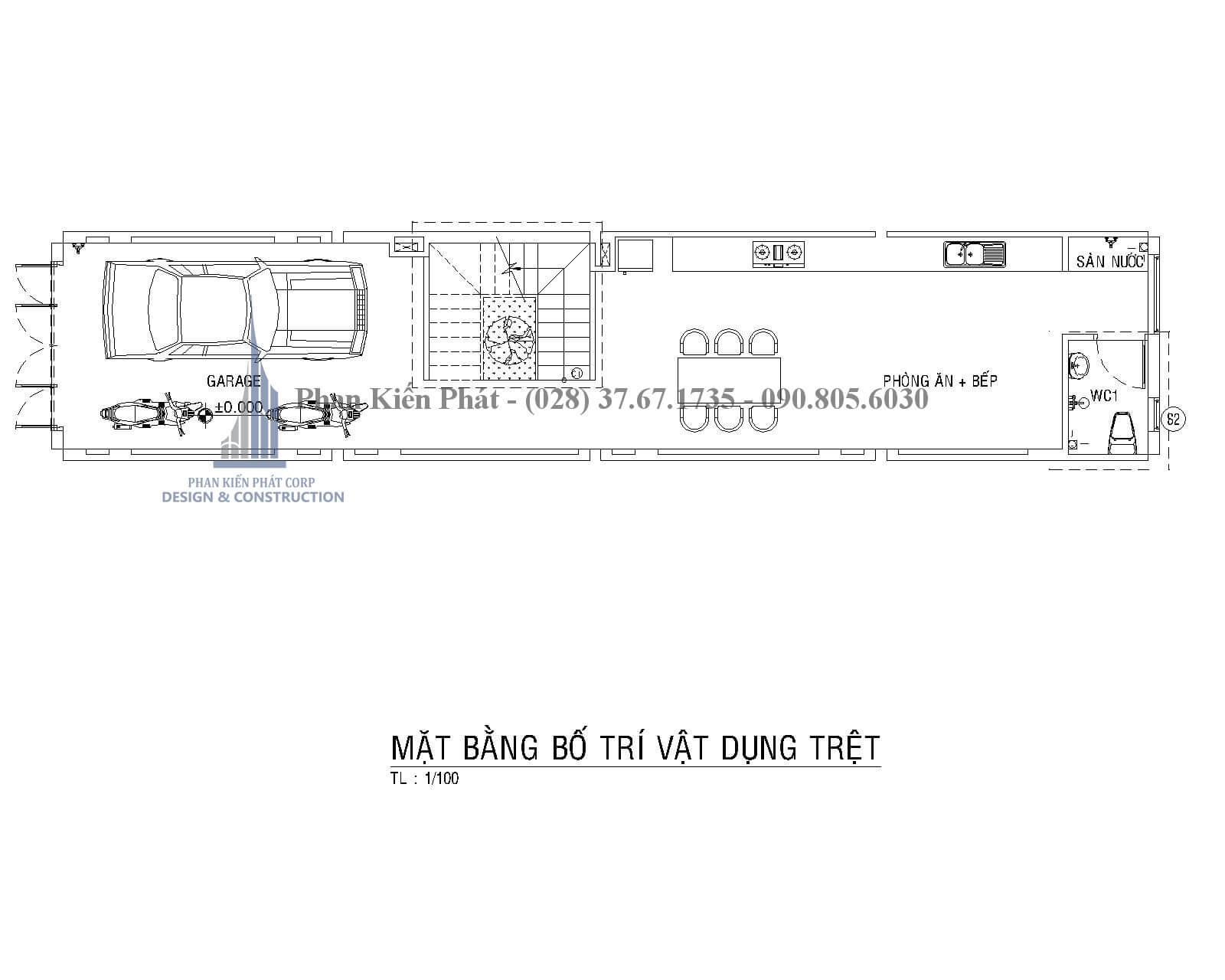 Thiet Ke Xay Dung Nha Dep Mat Bang Tret Nha Pho Mai Thai - mẫu nhà phố 3 tầng tân cổ điển